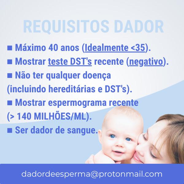 Requisitos de um dador de esperma para inseminação artificial caseira